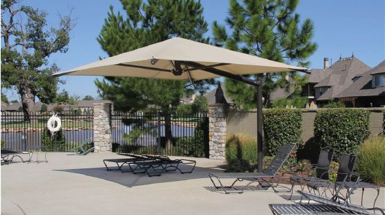 a cantilever shade structure